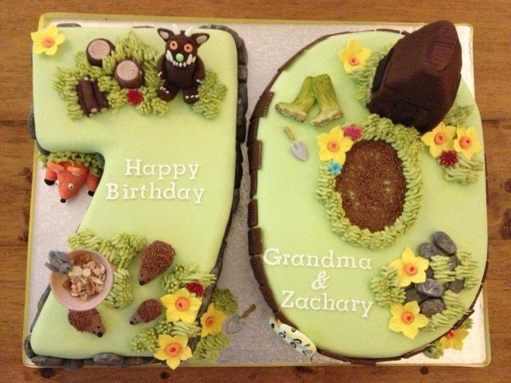 Joint birthday cake for Grandma & Grandson. Grandma turned ...