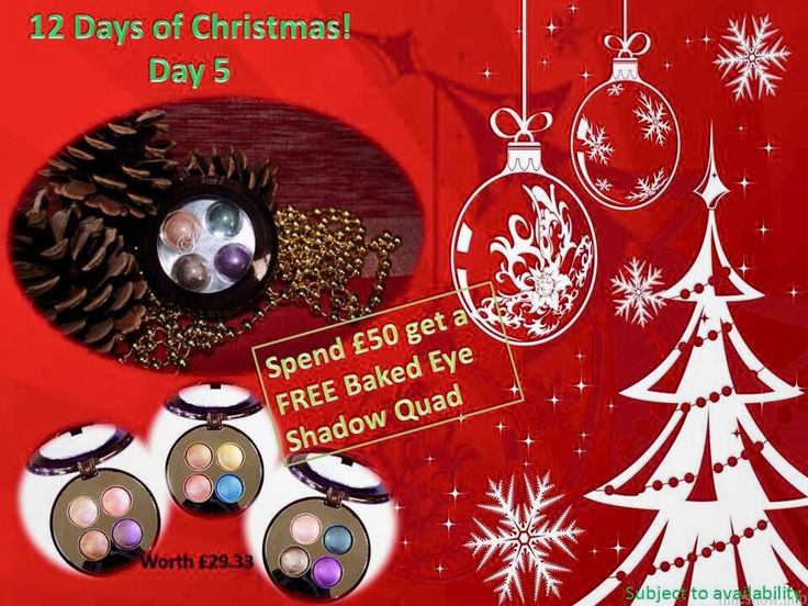Day 5: Spent 50 pounds and get a free Baked Eye Shadow Quad.