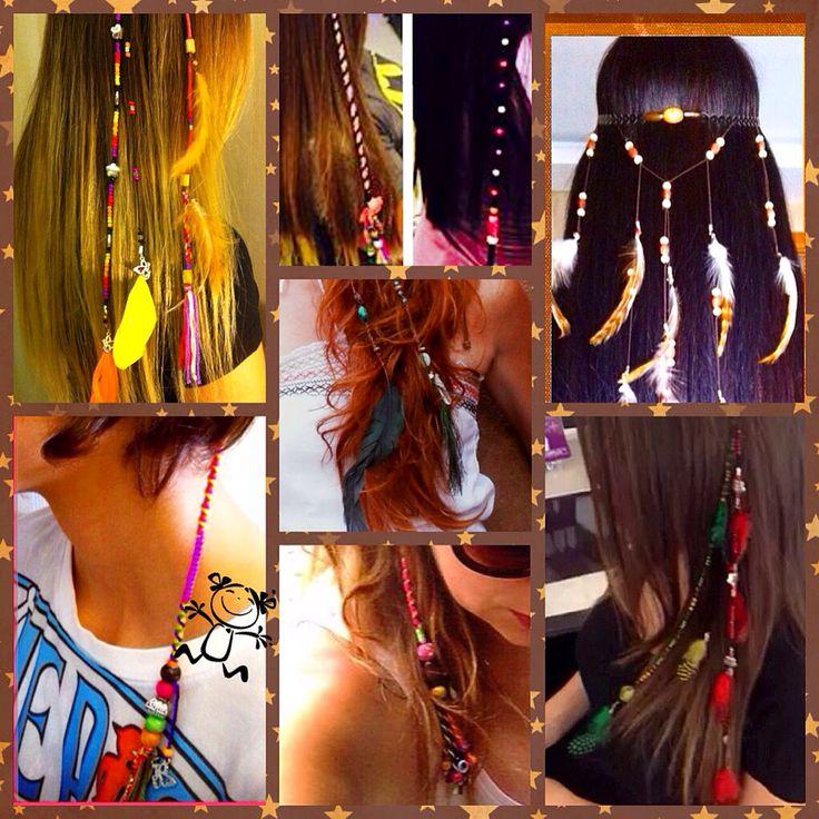 Twinsaksesuar saç aksesuar hair clip bohem gypsy