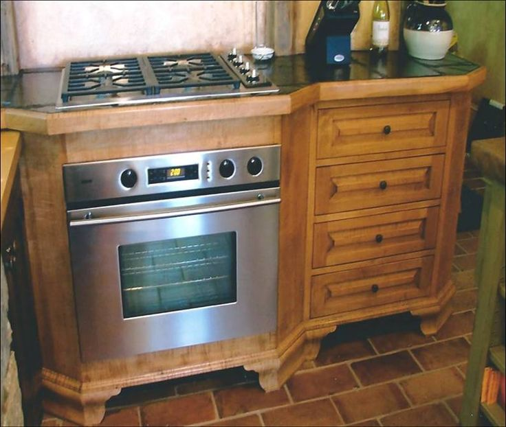 Elmira, NY Kitchen 2003. Wolf Appliances Are Built Into A
