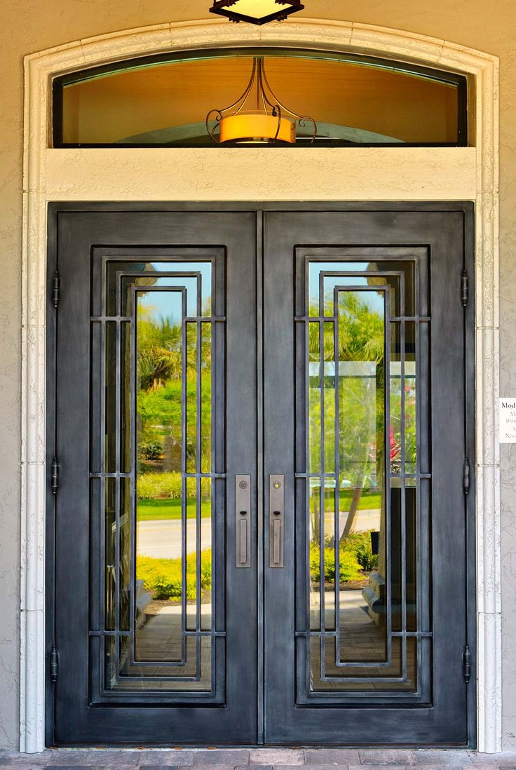 Best 25 wrought iron doors ideas on pinterest iron for Exterior entry doors