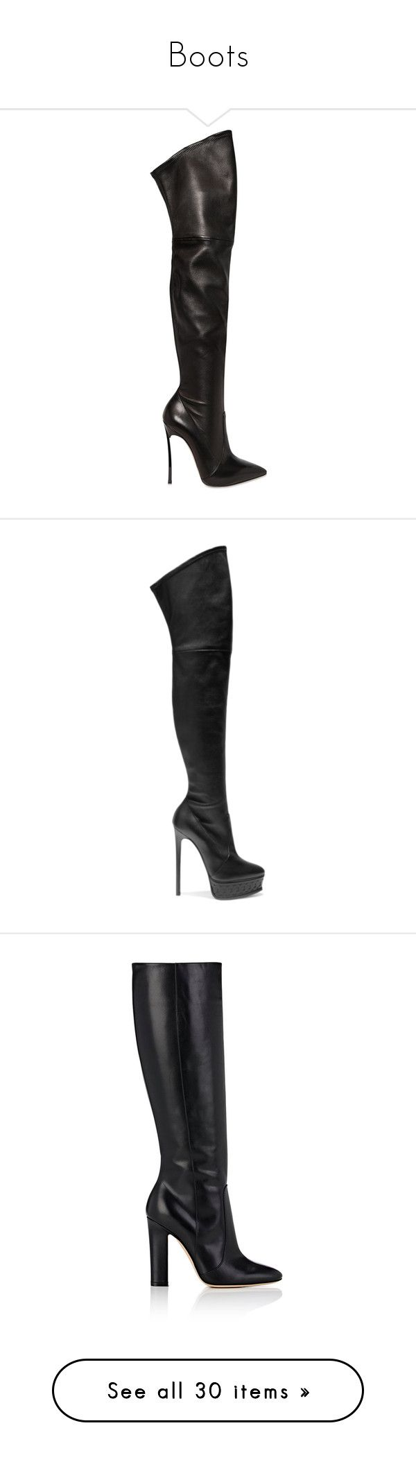 """Boots"" by gabriel-sampaiooo on Polyvore featuring shoes, boots, heels, black, black over the knee boots, over the knee platform boots, stretch over the knee boots, black boots, black high heel boots e thigh high platform boots"