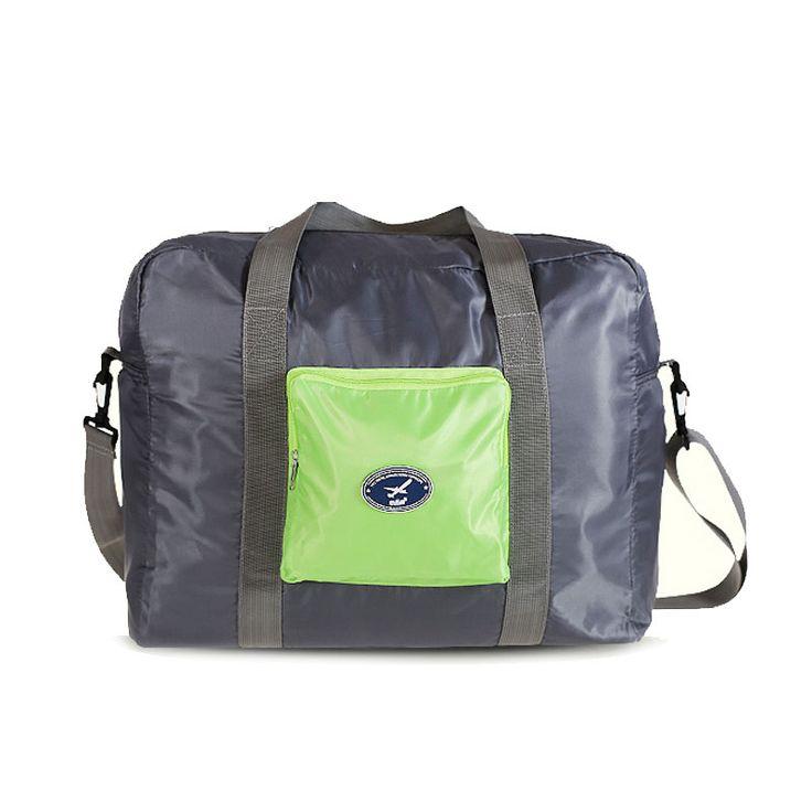2016 new designer foldable duffel bag men travel vanity bag Korea portable folding age shoulder hand bag female trolley suitcase