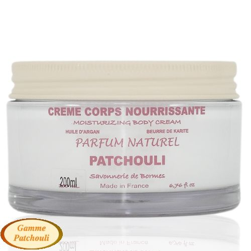 Crème de corps aux karité  & argan, parfum Patchouli - 200 ml - Savonnerie de Bormes - Крем для тела (Франция)