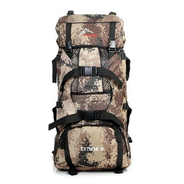 90L Tactical Camping Hiking Mountaineering Backpack