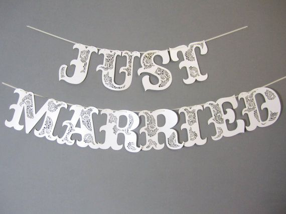 Best 25 Just Married Banner Ideas On Pinterest