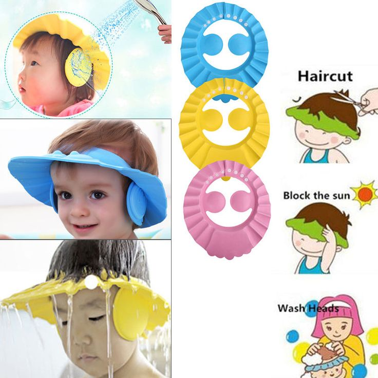 Baby Tearless Bath Shower Shampoo Visor Eye Shield Cap Wash Hair Waterproof Kids in Baby, Other Baby | eBay!