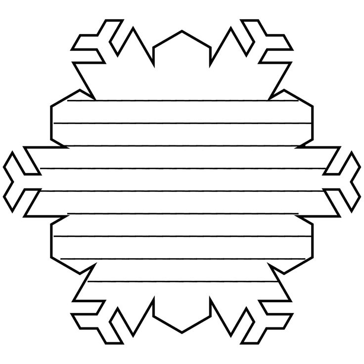 Snowflake Shape Book Pattern with Lines