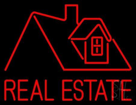 Real Estate Home Logo Neon Sign