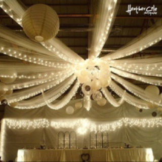One of our wedding ceilings