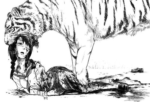 ero guro | Tumblr: Tiger Area, Anime Manga, Girl, Manga Style, Horror, I Was Guro, Tiger Killing