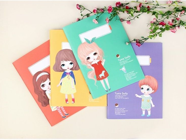 Tynie Dolly Color Notebook 4 Notebooks in 1set Diary Trable Note Made in Korea | eBay