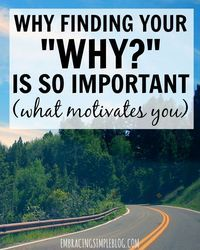 "What drives you in your life? Click to read why finding your ""WHY"" is important…"