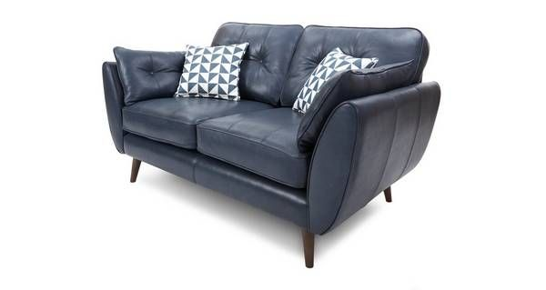 Zinc Leather 2 Seater Sofa  | DFS