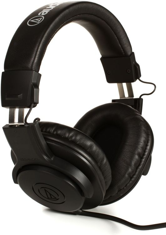 """Closed-back Circumaural Headphones with 40mm Neodymium Magnet Drivers, Straight Cable, and 1/4"""" Adapter"""