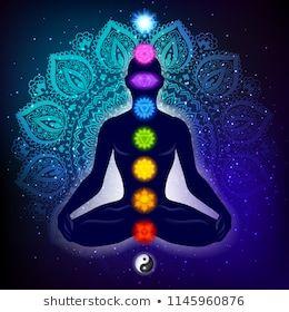 meditating human in lotus pose yoga illustration