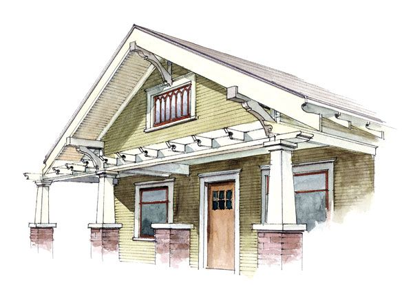 17 Best Images About Houses Arts Crafts On Pinterest: craftsman style gables