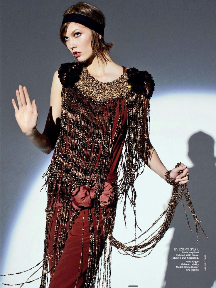 Gatsby style: Karlie Kloss by Arthur Elgort for Vogue Australia May 2012