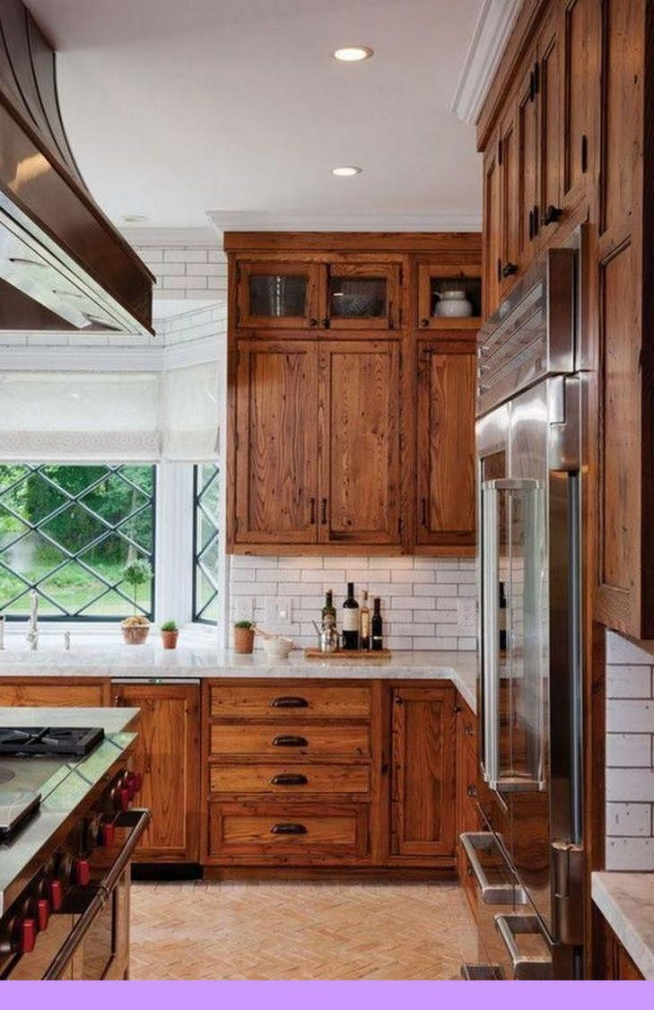 Dark Light Oak Maple Cherry Cabinetry And Unfinished Wood Kitchen Cabinet Doors Check The P Farmhouse Style Kitchen Rustic Kitchen Kitchen Cabinet Design