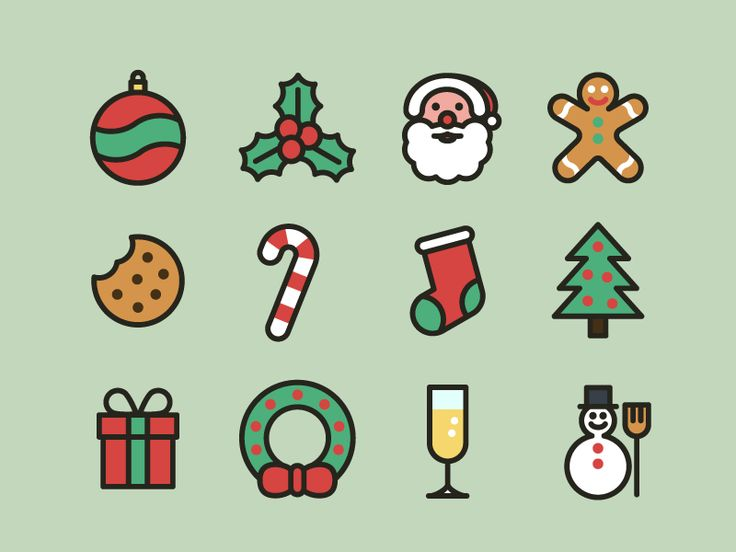 Christmas icons for you! Some have been made quickly and aren't perfect, but they're free :) To download the full set in SVG format see attachment. Single icons are available on Iconfinder