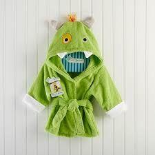 """Something Blue - Baby Aspen - """"My Little Monster"""" - Hooded Spa Robe, R348.00 (http://www.somethingblue.co.za/baby-aspen-my-little-monster-hooded-spa-robe/)"""