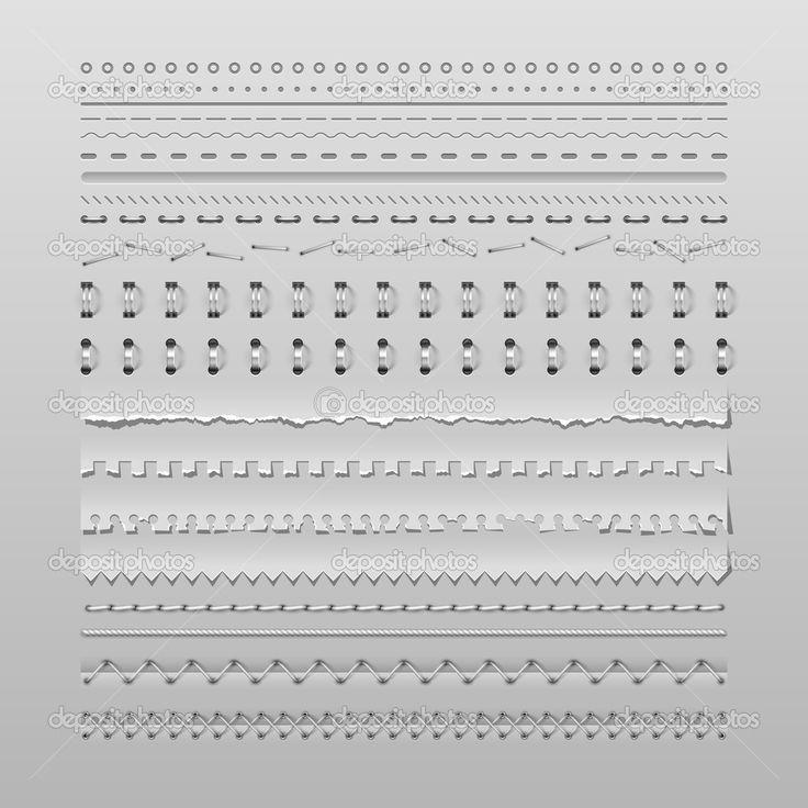 points de suture et diviseurs - Illustration: 29440063