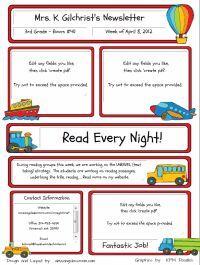 Best 25+ Newsletter templates ideas on Pinterest | Parent ...