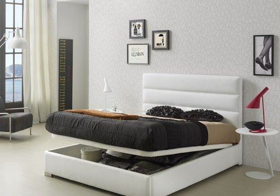 #Cama tapizada con #canapé abatible. / #Llit entapissat amb #canapè abatible.