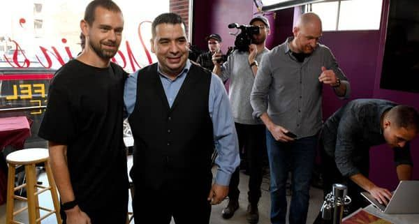 Jack Dorsey highlights Yassin Terou, owner of Yassin's Falafel House in Knoxville, Tenn.