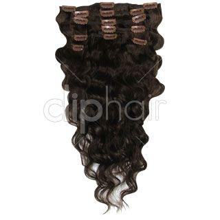 18 Inch Wavy Full Head Set Clip In Hair Extensions | Chocolate Brown- Medium Brown #4 | £54.99 | cliphair hair extensions