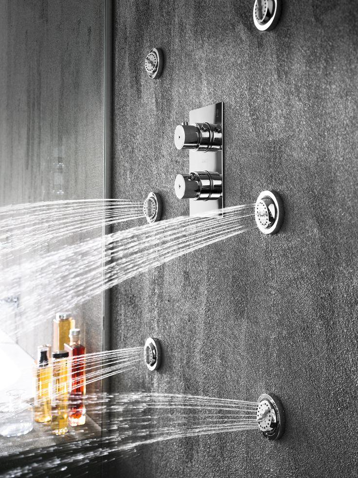 Plus Miscelatore #doccia termostatico a incasso, deviatore a 5 vie/ 5-way deviator, flush fit thermostatic #shower mixer