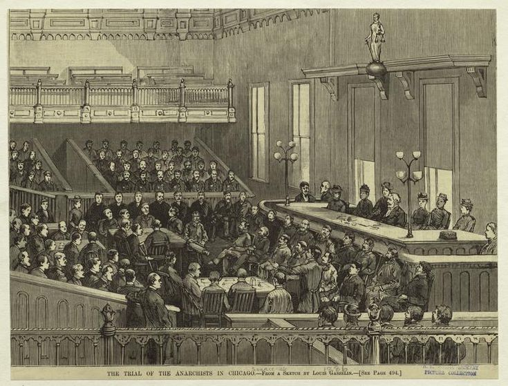 The trial of the anarchists in Chicago - Haymarket affair