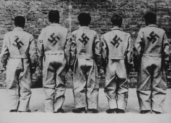 German civilian prisoners captured during the uprising in Warsaw.