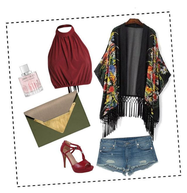 """""""Sunset"""" by amaliamatei on Polyvore featuring True Religion, Dareen Hakim and Jimmy Choo"""