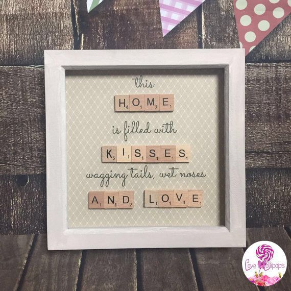 Scrabble tile home frame