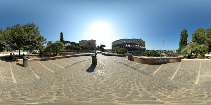 """360º view of Rome with the """"Colosseo"""""""