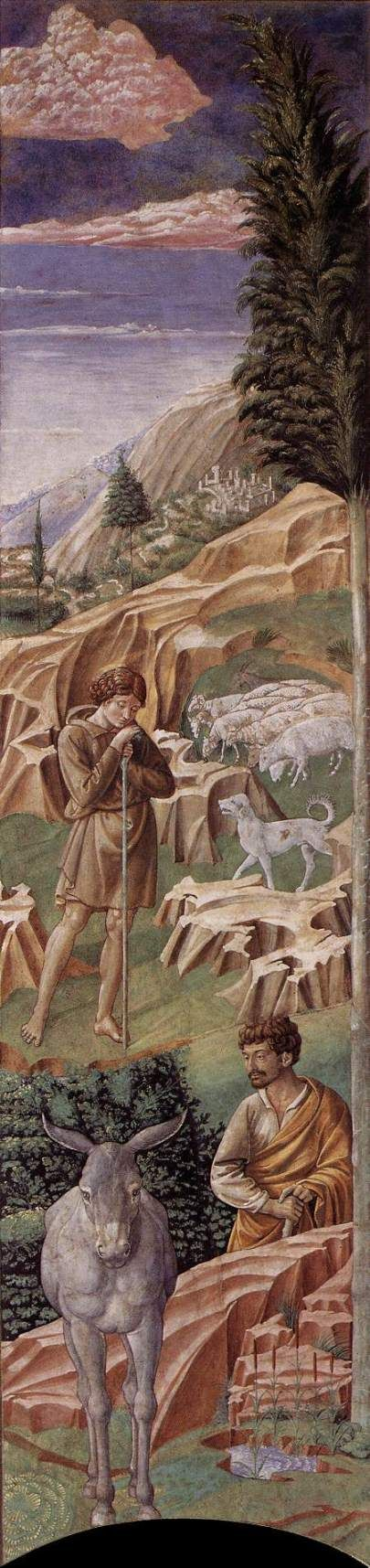 ❤ - BENOZZO GOZZOLI (1421 - 1497) - Vigil of the Shepherds. 1459-1461. Fresco. Right side of entrance to chancel.Palazzo Medici-Riccardi, Florence, Italy.