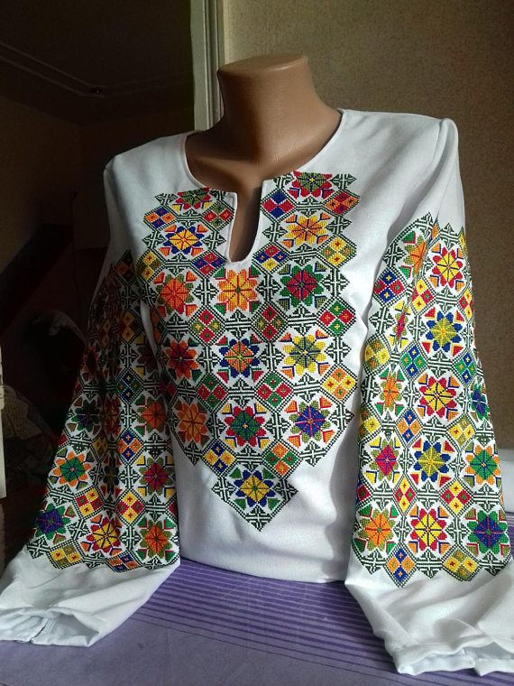 Ukrainian embroidery embroidered blouse XS  4XL Ukraine