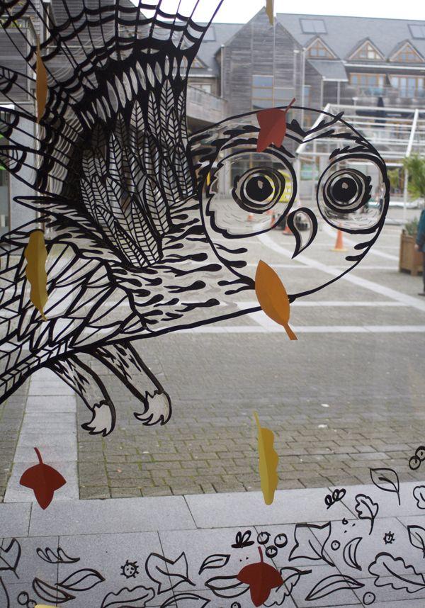 Show window art. Posca markers. http://www.melaniechadwick.com/