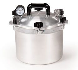 My favorite canner.  3rd Anniversary gift in 1994.  All American Pressure Canner 915 | 15 Quart Pressure Canner