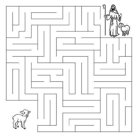 The Sheep and the Shepherd Maze - Sermons4Kids.com