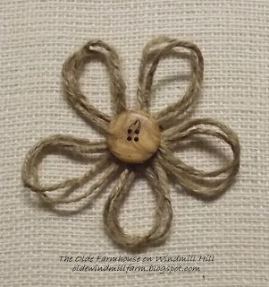 The Olde Farmhouse on Windmill Hill: Jute {Twine} Flower Tutorial