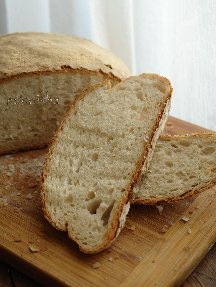 """Рецепт нашла в группе из """"ВКонтакте"""", посвящённой Греции. В самой рецептуре ничего необычного нет - простой опарный хлеб. Необычным мне показался способ…"""
