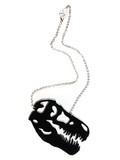 T-Rex Head Necklace in Black   Mink Schmink