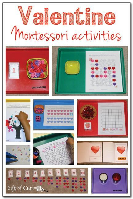 Lots of Valentine Montessori activities spanning the 3-6 curriculum || Gift of Curiosity
