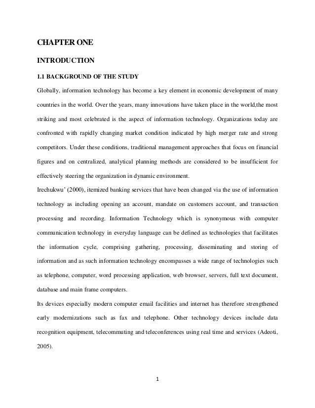 Thesi The Role Of Information Technology On Commercial Bank In Nig Electronic Banking Dissertation Pdf