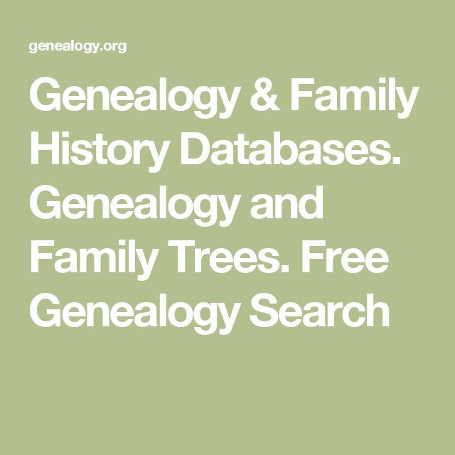 Genealogy & Family History Databases. Genealogy and Family Trees.  Free Genealogy Search
