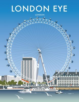 """London Eye  This """"London Eye"""" photographic art print is created using state of the art, industry leading Digital printers. The result - a stunning reproduction at an affordable price."""
