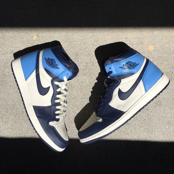 Ds Air Jordan Retro 1 High Oh Obsidian University Blue Size 13