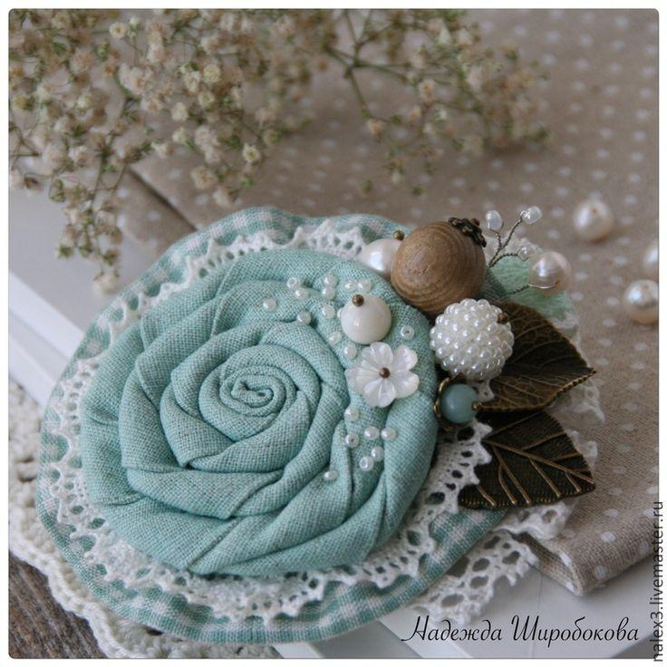 """Купить Брошь """"Дыхание весны"""" - мятный, мятная брошь, романтичное украшение, брошь цветок"""